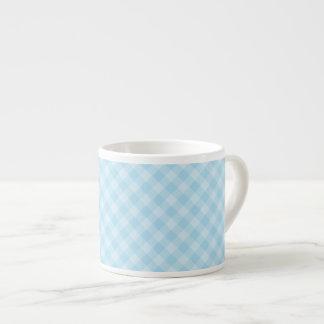 Pastel Blue Tartan Espresso Cup