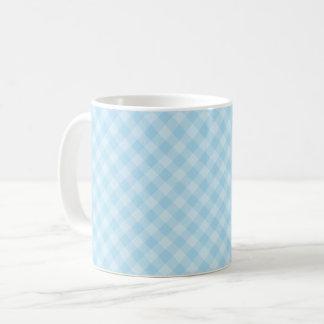 Pastel Blue Tartan Mug
