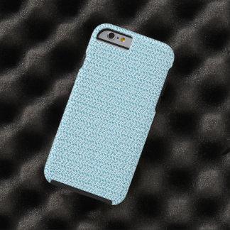 Pastel Blue Weave Look Tough iPhone 6 Case
