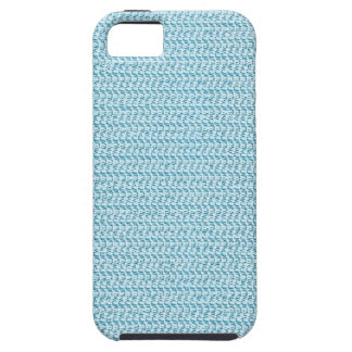 Pastel Blue Weave Mesh Look iPhone 5 Cover