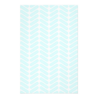 Pastel Blue Zigzag Pattern inspired by Knitting. Flyer