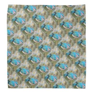 Pastel Bluebird Patterned Head Kerchiefs