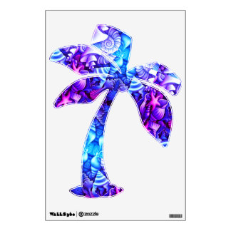 Pastel Blues, 360 Wall Decal Palm Tree