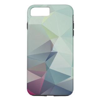Pastel Blues Abstract Pyramid Art iPhone 7 Plus Case