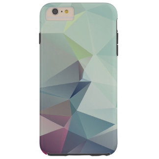 Pastel Blues Abstract Pyramid Art Tough iPhone 6 Plus Case