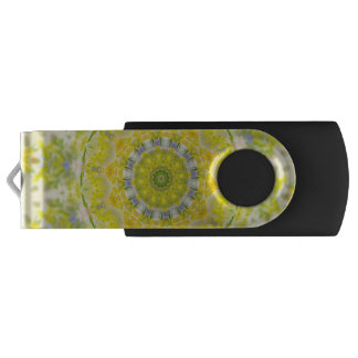 PASTEL BOHEMIAN KALEIDOSCOPIC GEOMETRIC MANDALA SWIVEL USB 2.0 FLASH DRIVE