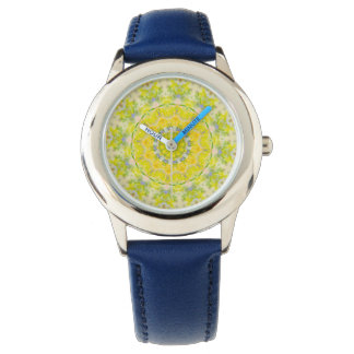 PASTEL BOHEMIAN KALEIDOSCOPIC GEOMETRIC MANDALA WATCHES
