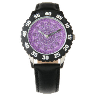 PASTEL BOHEMIAN KALEIDOSCOPIC GEOMETRIC MANDALA WRIST WATCHES
