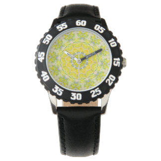 PASTEL BOHEMIAN KALEIDOSCOPIC GEOMETRIC MANDALA WRISTWATCHES