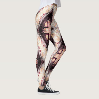 Pastel Brown Abstract Pattern Leggings