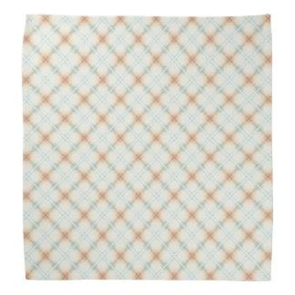Pastel Brown And Blue Retro Pattern Bandana