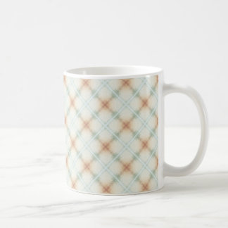 Pastel Brown And Blue Retro Pattern Coffee Mug
