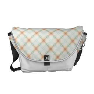 Pastel Brown And Blue Retro Pattern Messenger Bag