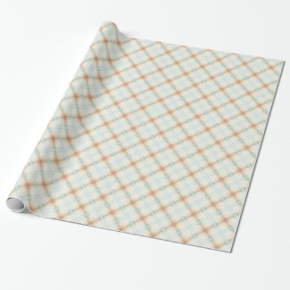 Pastel Brown And Blue Retro Pattern Wrapping Paper