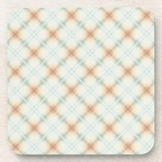 Pastel Brown And Blue Vintage Pattern Coaster