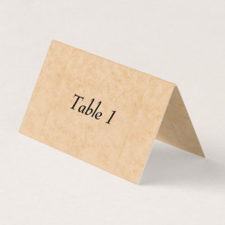 Pastel Brown Marble Folded Table Number Card