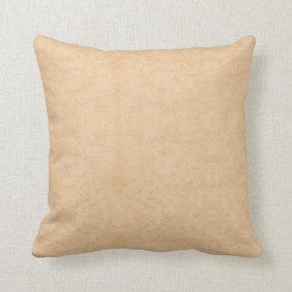Pastel Brown Marble Throw Pillow