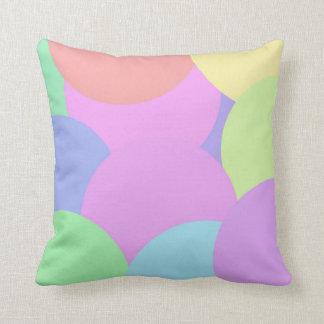 Pastel bubbles throw pillow