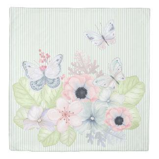 Pastel Butterfly Garden Duvet Cover