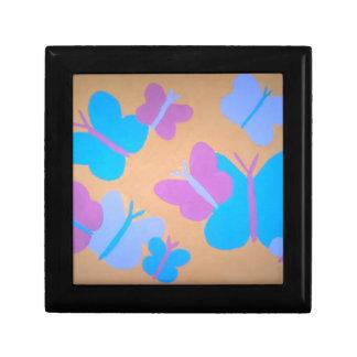 Pastel Butterfly Pattern Gift Box