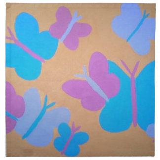 Pastel Butterfly Pattern Napkin