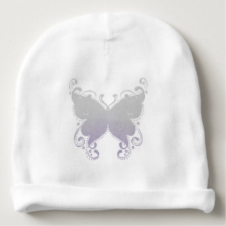 Pastel Butterfly Silhouette - Baby Beanie