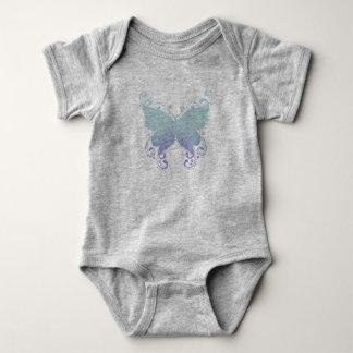 Pastel Butterfly Silhouette - Baby Bodysuit