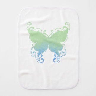 Pastel Butterfly Silhouette - Baby Burp Cloth