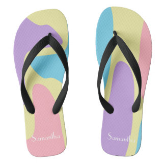 Pastel Camouflage Flip Flops