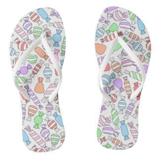 Pastel Candies Flip-flops Flip Flops