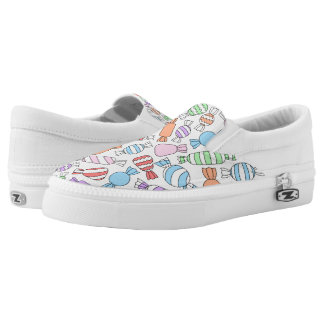 Pastel Candies Zipz Slip On Shoes