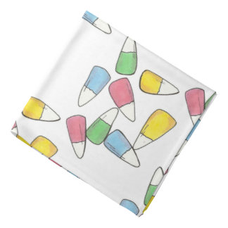 Pastel Candy Corn Easter Basket Candy Bandana