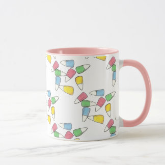 Pastel Candy Corn Easter Party Springtime Mug