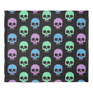 Pastel Candy Skulls Duvet Cover