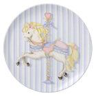 Pastel Carousel Pony Plate