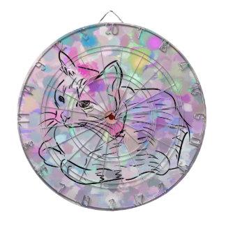 Pastel Cat Dartboard