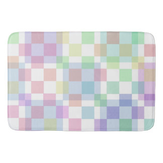 Pastel Checked Bathroom Mat