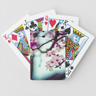 Pastel cherry blossom photo bicycle playing cards