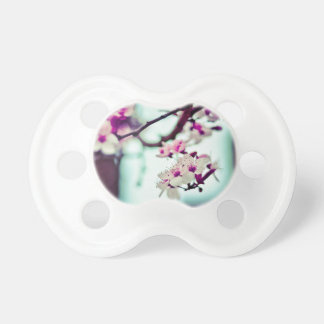 Pastel cherry blossom photo pacifier