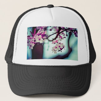 Pastel cherry blossom photo trucker hat
