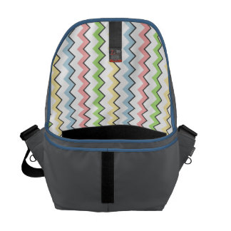 Pastel Chevron-Drop Shadow by Shirley Taylor Courier Bags