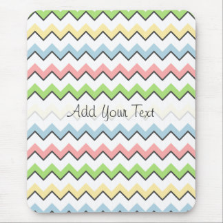 Pastel Chevron-Drop Shadow by Shirley Taylor Mouse Pad