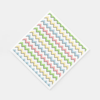 Pastel Chevron-Drop Shadow by Shirley Taylor Napkin