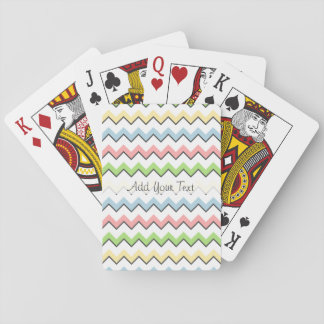 Pastel Chevron-Drop Shadow by Shirley Taylor Playing Cards