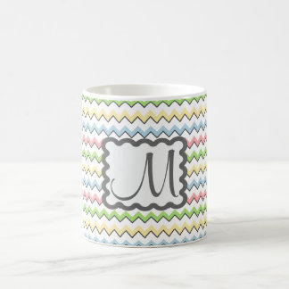 Pastel Chevron with Monogram by Shirley Taylor Coffee Mug