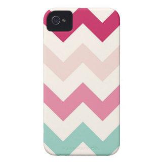 Pastel chevron zigzag stripes zig zag pattern chic Case-Mate iPhone 4 case