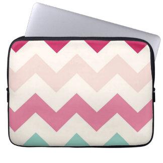 Pastel chevron zigzag stripes zig zag pattern chic laptop sleeve