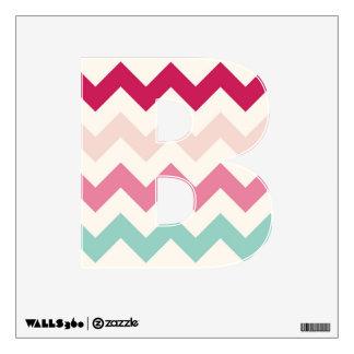 Pastel chevron zigzag stripes zig zag pattern chic wall decal