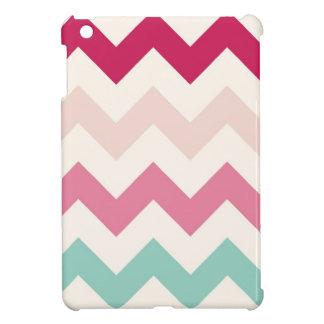 Pastel chevron zigzag zig zag abstract pattern cover for the iPad mini