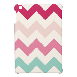 Pastel chevron zigzag zig zag abstract pattern iPad mini cover
